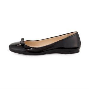 Prada Patent Leather Black Ballet Flats